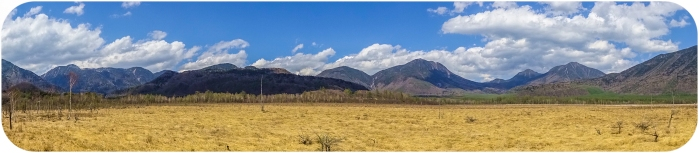 A panoramic shot is the closest I can get to coveying the vastness of this landscape.
